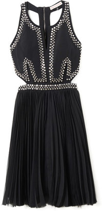 Rebecca Taylor Embellished Dress with Cutouts