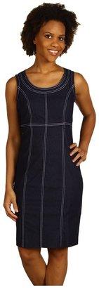 Anne Klein Denim Shift Dress (Indigo) - Apparel