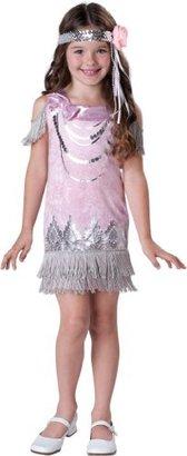 Incharacter Costumes, LLC Fancy Flapper, Pink/Silver, 8