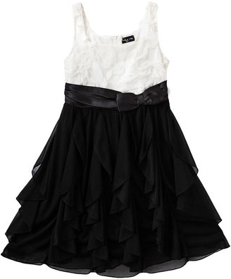 Ruby Rox soutache corkscrew ruffle dress - girls 7-16