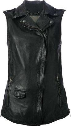 Muubaa leather waistcoat