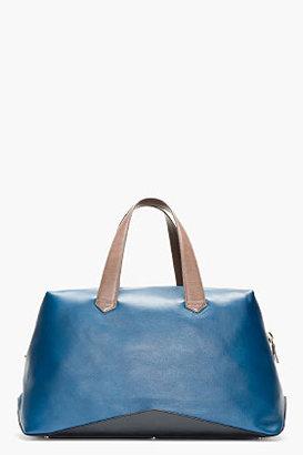Paul Smith Deep Blue Leather Duffle Bag