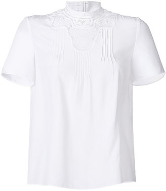 Vanessa Bruno Silk Top with Eyelet Detailing