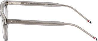 Thom Browne Grey & Silver Crystal Optical Glasses