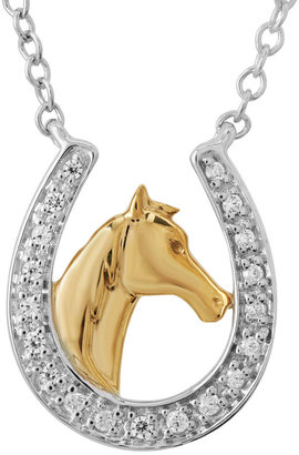 FINE JEWELRY ASPCA Tender Voices 1/10 CT. T.W. Diamond Horseshoe Pendant Necklace $249.98 thestylecure.com