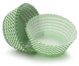 Sur La Table Acme® Green Striped Bake Cups, Set of 50