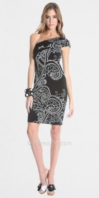 Adrianna Papell Julian Chang Little Black Paisley Print Dresses