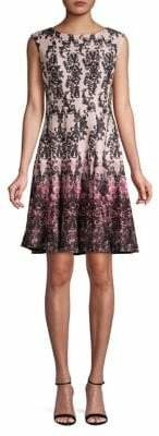 Gabby Skye Printed Fit--Flare Dress