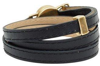 House Of Harlow Sunburst Leather Wrap Bracelet