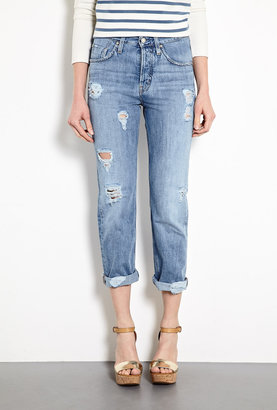 MiH Jeans Halsy High-rise Vintage Distressed Straight Leg Jeans