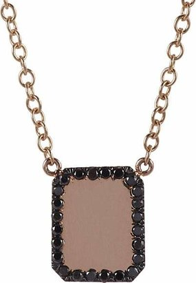 Finn Women's Black Diamond & Rose Gold Looking-Glass Scapular Necklace