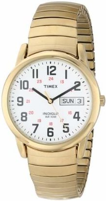 Timex Men's T20471 Easy Reader 35mm Gold-Tone Stainless Steel Expansion Band Watch