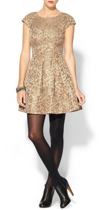 French Connection Blousey Bloom Jacquard Dress