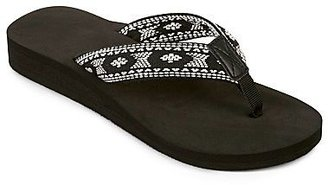 JCPenney Tribal Print Active Flip Flops