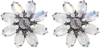 Elizabeth Cole Flower Earrings, Aurora Borealis 1 ea
