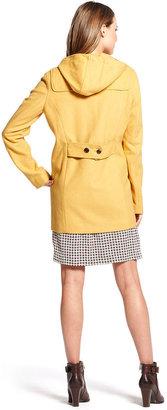 Tommy Hilfiger Coat, Long-Sleeve Hooded Wool-Blend