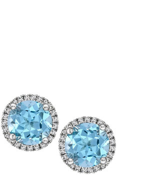 Kiki McDonough Grace 18k Gold Blue Topaz & Diamond Earrings