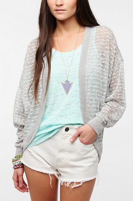Sparkle & Fade Textured Dot Oversized Cardigan