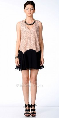 No Two-Tone Lace Day Dress