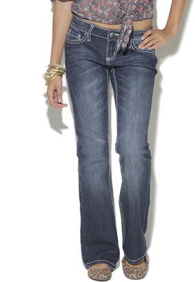 Wet Seal Studded Boot Cut Jean