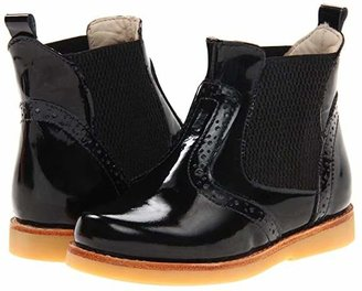 Elephantito Bootie (Toddler/Little Kid/Big Kid) (Black Patent) Girl's Shoes