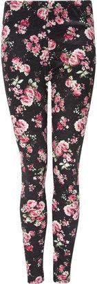 Full Tilt Ponte Floral Womens Leggings