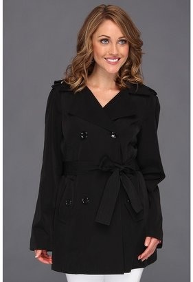 Calvin Klein Double-Breasted Hooded Trench CW342028 (Black) - Apparel
