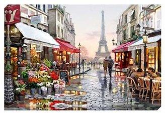 John Lewis & Partners Richard Macneil - Paris Flower Shop Print on Canvas, 70 x 100cm