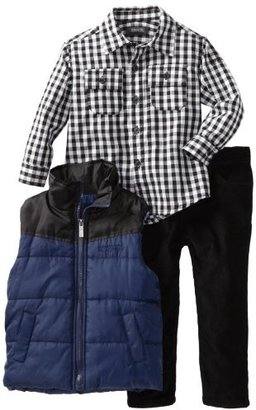 Kenneth Cole Boys 2-7 Toddler Puffy Vest with Shirt and Jean