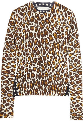 Stella McCartney Contrast-print fine-knit wool sweater