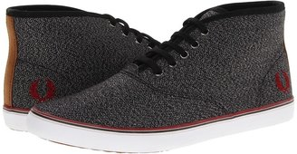 Fred Perry Sprigens Twisted Chambray (Black/Rosso) - Footwear