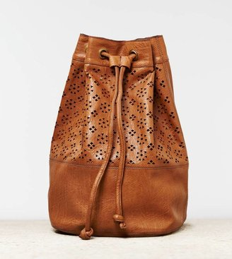 American Eagle AEO Perforated Bucket Backpack