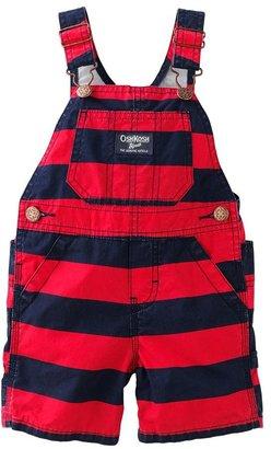 Osh Kosh striped poplin shortalls - baby