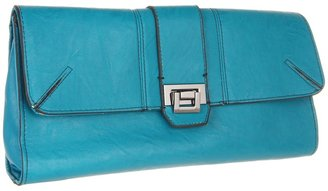 Jessica Simpson Lady Chic Clutch (Turquoise) - Bags and Luggage