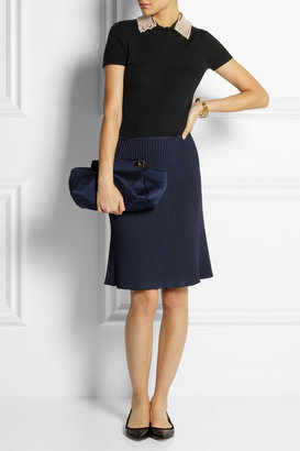 Marc Jacobs Fluted ribbed stretch-jersey skirt