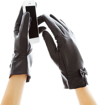 MIXIT CLASSICS Mixit Bow-Accent Leather Gloves $40 thestylecure.com