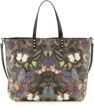 Valentino Patchwork Butterfly Easy Tote Bag, Multi