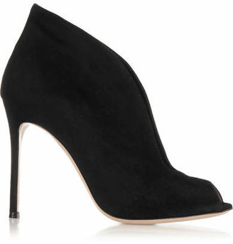 Gianvito Rossi Vamp 105 Suede Ankle Boots - Black
