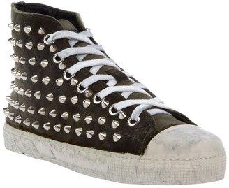 Gienchi Studded Velvet Sneakers