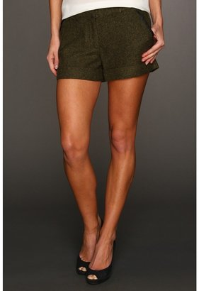 Kensie Tweed Short (Olive Combo) - Apparel
