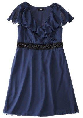 Mossimo Women's Plus-Size Sleeveless V-Neck Ruffled Dress - Assorted Colors