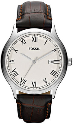 Fossil 'Ansel' Leather Strap Watch, 41mm