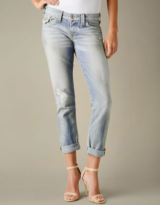 True Religion Womens Cameron Boyfriend Jean