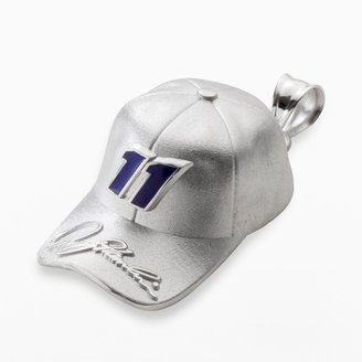 "Insignia Collection NASCAR Denny Hamlin Sterling Silver ""11"" Baseball Cap Pendant"