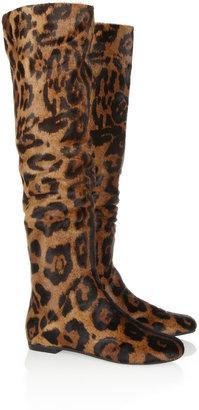 Giuseppe Zanotti Leopard-print calf hair boots