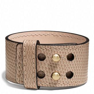 Coach Glitter Lizard Collarpin Bracelet