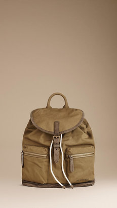 Burberry Sailing Cotton Canvas Backpack