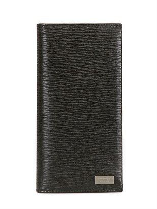 Salvatore Ferragamo Revival Print Long Leather Wallet