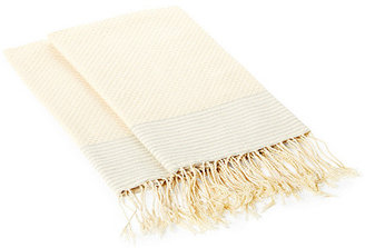 S4 S/2 Thin Striped Towels, Cream/Gray