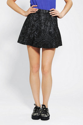 Urban Outfitters Motel Vintage X Urban Renewal Leather Circle Skirt